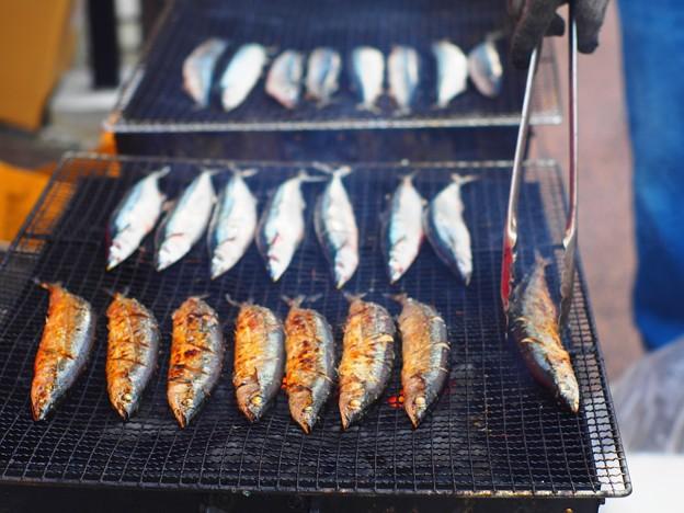 秋刀魚焼けてます