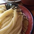 写真: お昼は大谷製麺所でざるうどん。ほぼ極限的な気合いの入ったコシ 。