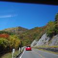 牧ノ戸峠へ向かう車窓からの眺め