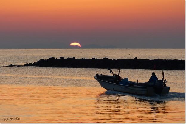 写真: 出漁