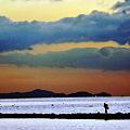 写真: 朝の海