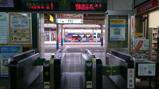 改札ときらきらうえつ [JR 酒田駅]