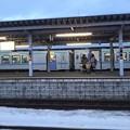 写真: ホームとキハ150形 [JR 富良野駅]