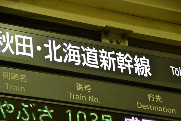 北海道の文字(東北/山形/秋田/北海道新幹線発車標) [JR 東京駅]