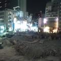写真: 東急プラザのビルが壊されてまっさらになってるな。渋谷駅のバスプールも東急バス側のエリアはツブされてるし。