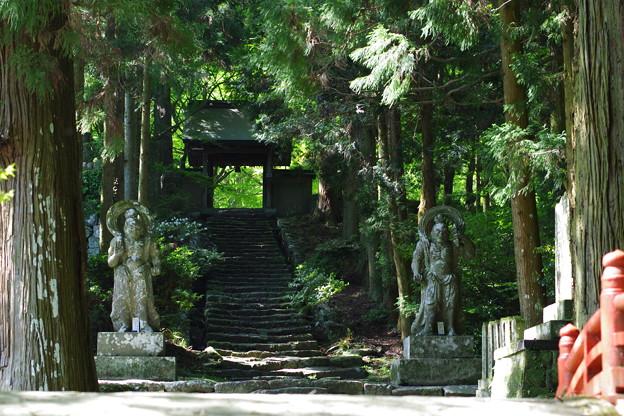 仁王像と山門