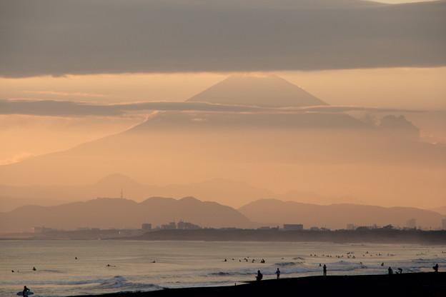 鵠沼からの富士山