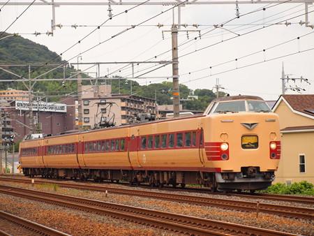 381系国鉄色回送   東海道本線島本~山崎01