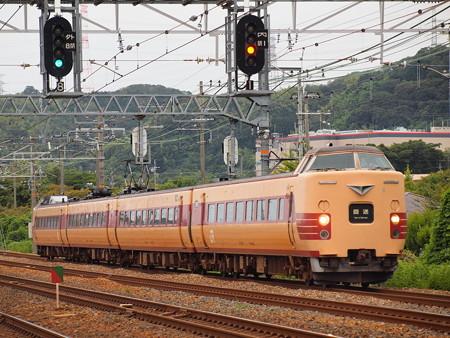 381系国鉄色回送   東海道本線島本~山崎02