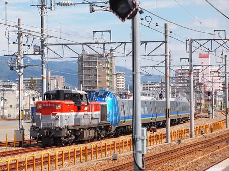 DE10 キハ285系甲種  山陽本線鷹取駅01