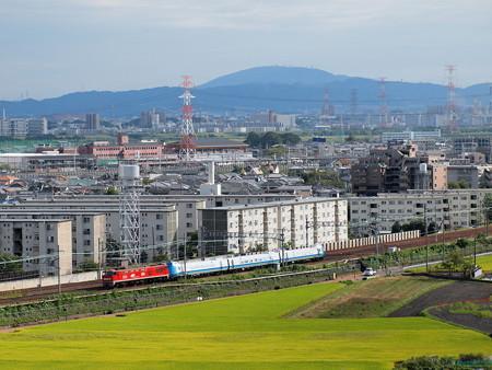 EF510 キハ285系甲種 東海道本線高槻~島本