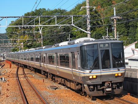 223系回送 東海道本線山科駅