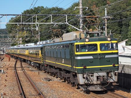 EF81 サロンカーなにわ 東海道本線山科駅
