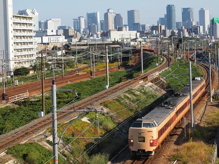 381系特急こうのとり 東海道本線塚本~尼崎