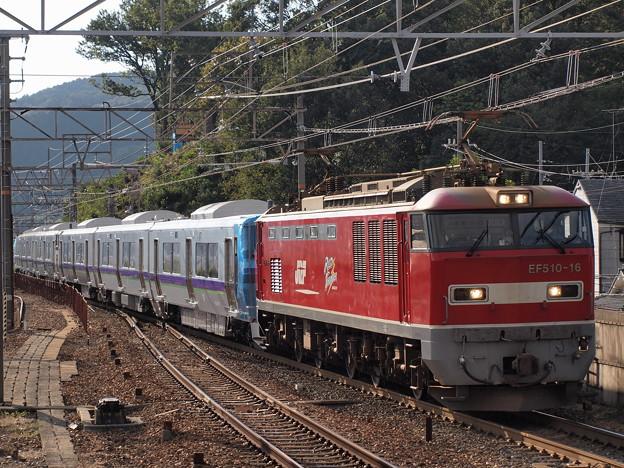 EF510 733系甲種 東海道本線山科駅