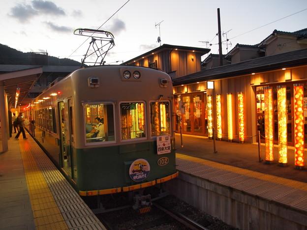嵐電モボ101形 嵐山本線嵐山駅02
