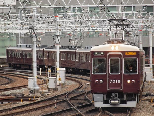 阪急7000系急行 阪急宝塚線梅田駅