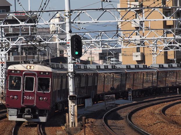 阪急7000系普通 阪急神戸線中津駅