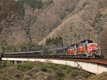 DD51 トワイライトエクスプレス 伯備線方谷~備中川面03