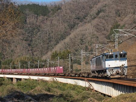 EF64貨物 伯備線方谷~備中川面02