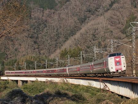 381系特急やくも 伯備線方谷~備中川面03