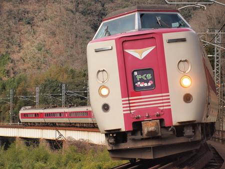 381系特急やくも 伯備線方谷~備中川面09