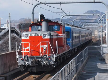 DD51 網干訓練  山陽本線加古川駅02