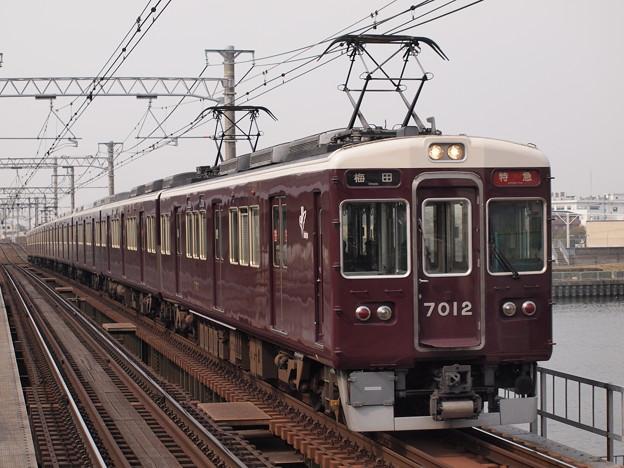 阪急7000系特急  阪急神戸線神崎川駅04