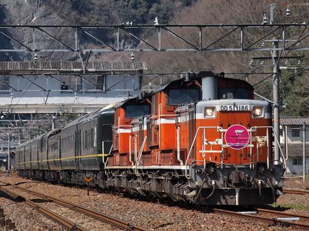 DD51 トワイライトエクスプレス 伯備線美袋~日羽06