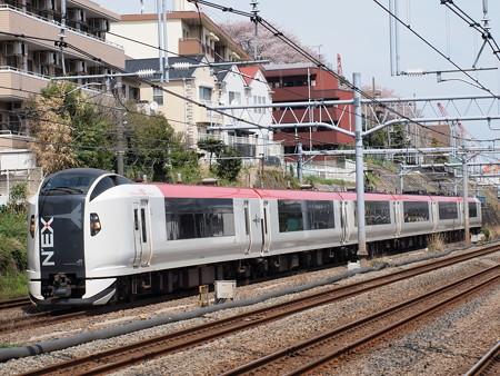 E259系特急成田エクスプレス横須賀線武蔵小杉~横浜02