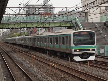 E231系常磐線快速 常磐線北松戸駅