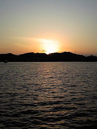 上島町佐島の夕日