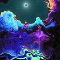 写真: 夜桜の池-01d