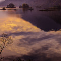 朝景秋元湖