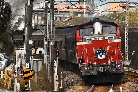 D51 498牽引SLクリスマス碓氷号@西松井田