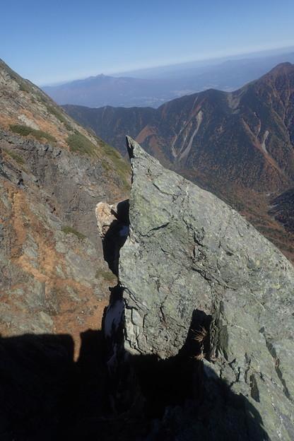北岳第四尾根登攀(23)