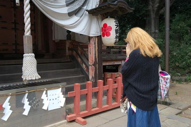 通りゃんせの神社にて・・・