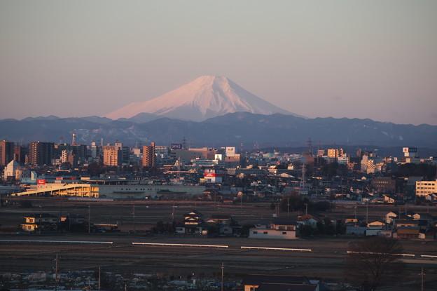 小江戸川越と富士山
