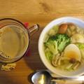 Photos: スープで昼食