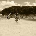 いつもの浜辺~時代を越えて