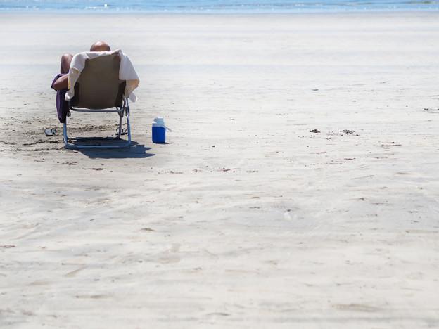いつもの浜辺~太陽を集めて