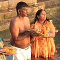 1926 ガンジス川の沐浴@インド