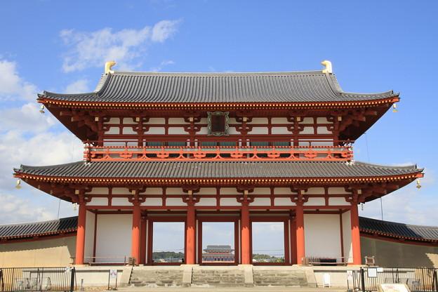 写真: 2004 朱雀門と大極殿@奈良