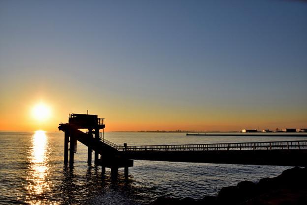 夕時の幕張の浜(1)