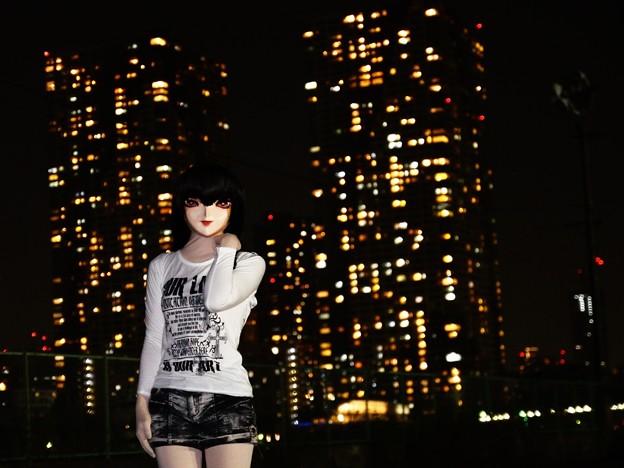 夜景ポートレート(着ぐるみ) 01