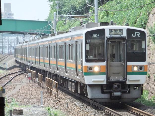 中央西線211系5000番台 K117編成他6両編成