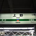 上野駅 駅名標【上野東京ライン・常磐線】
