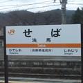 Photos: 洗馬駅 駅名標