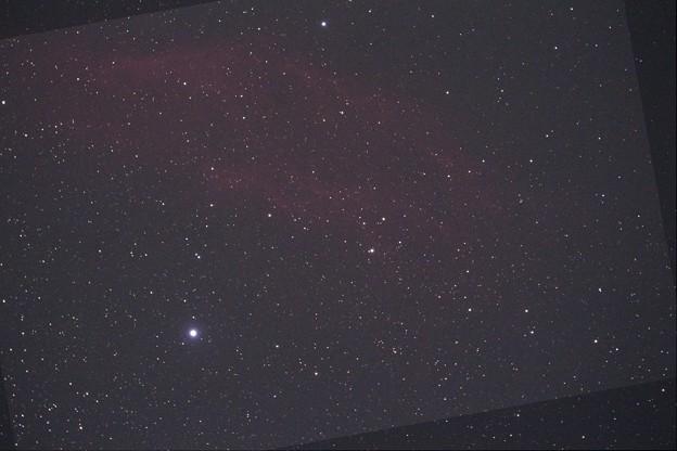 カリフォルニア星雲(赤強調)