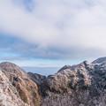 写真: 妙見から国見岳と普賢岳